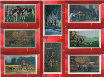 Hunting Scene Set of 8 Blank Cards Illustrated by Alison Wilson